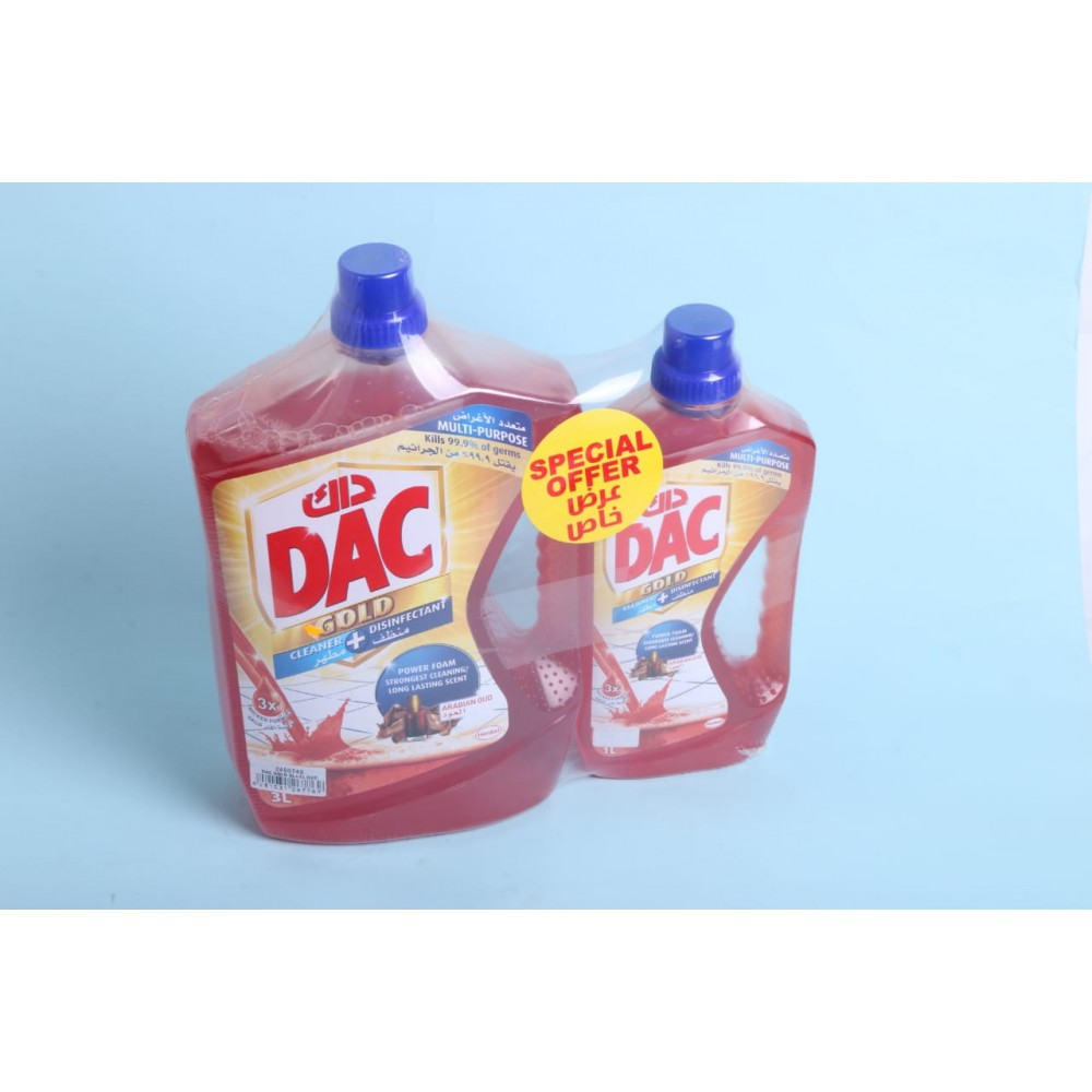 Dac Detergent Cleanser 3L + 1L for free