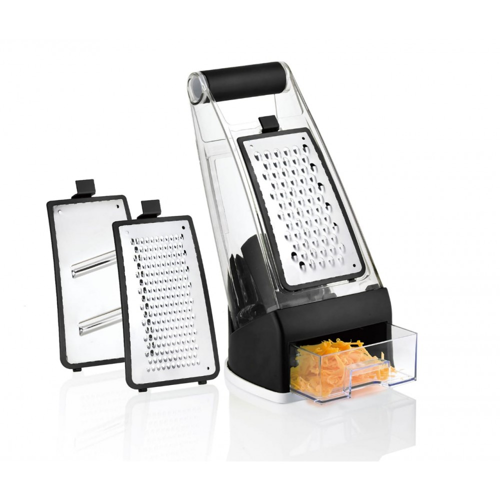 Grater with 3-in-1 base