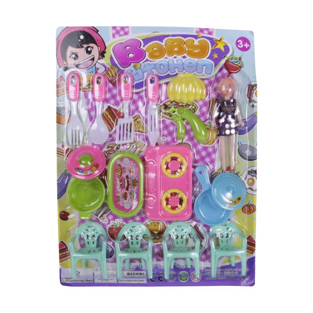 Girl's kitchen card game