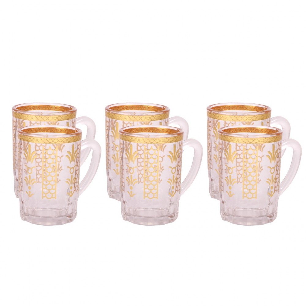 Bials with an elegant pattern 6 pieces