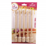 A set of wooden sticks for honey 6 pieces