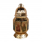 Lantern with battery colored iron