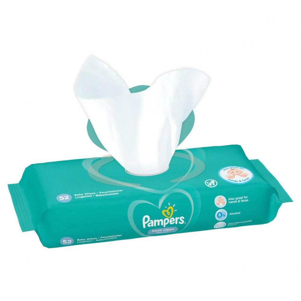 Wet wipes pampers 52 pieces