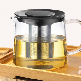 Glass jug 1000 ml with plastic cover