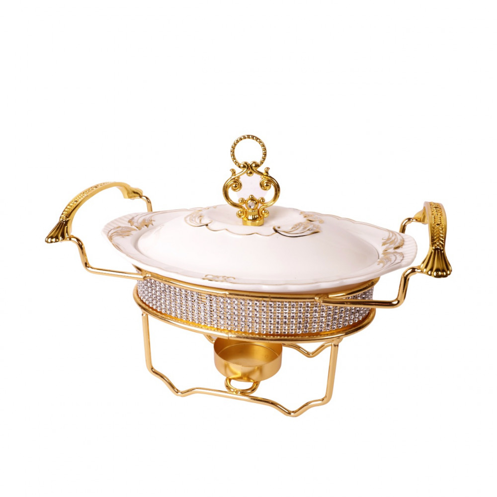 Melamine soup bowl with golden stand