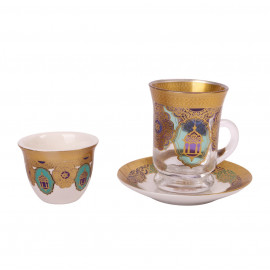 Cups set with cups of 18 pieces