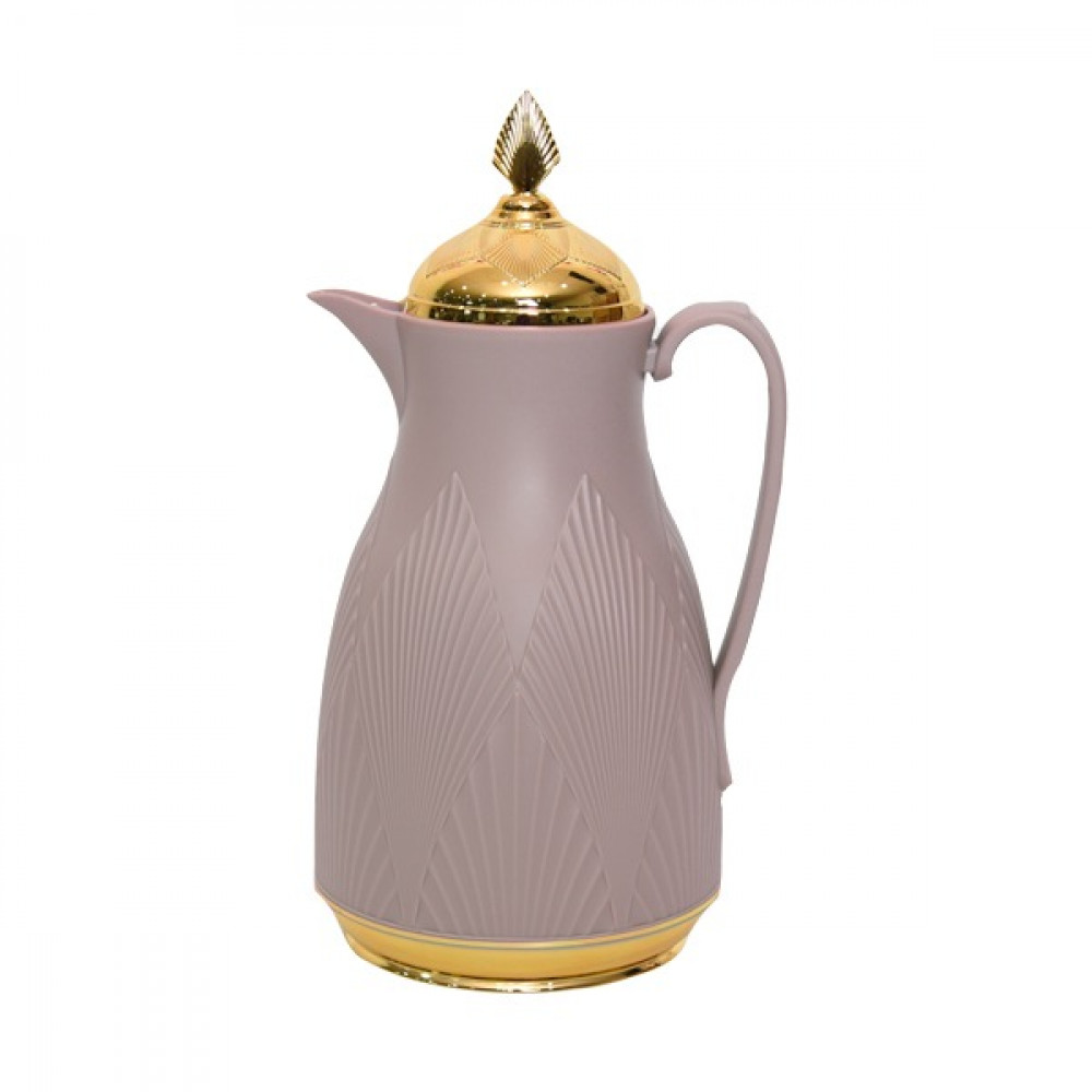 Misa flask, purple, 1 liter, with a golden cover