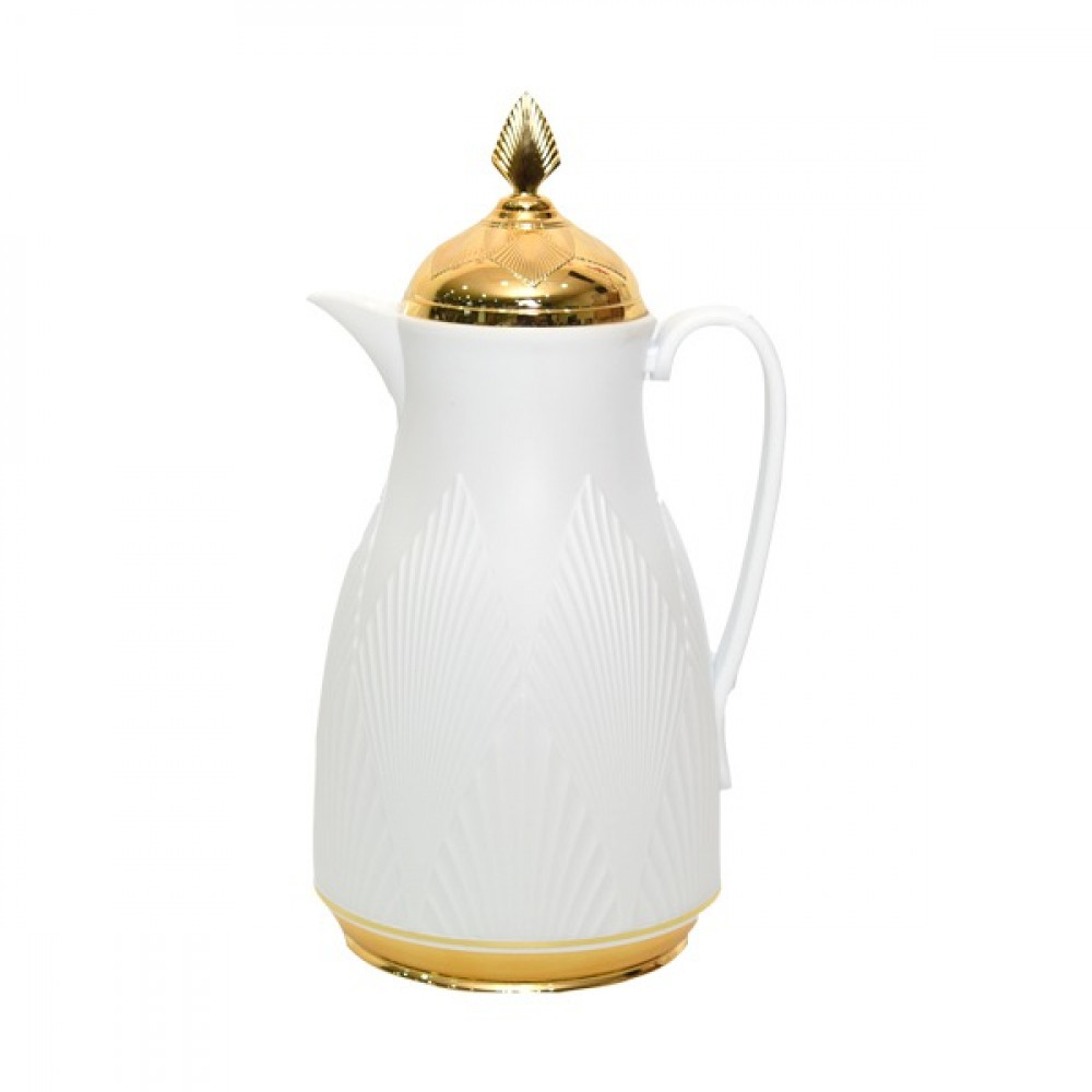 Misa white thermos 1 liter with golden cover