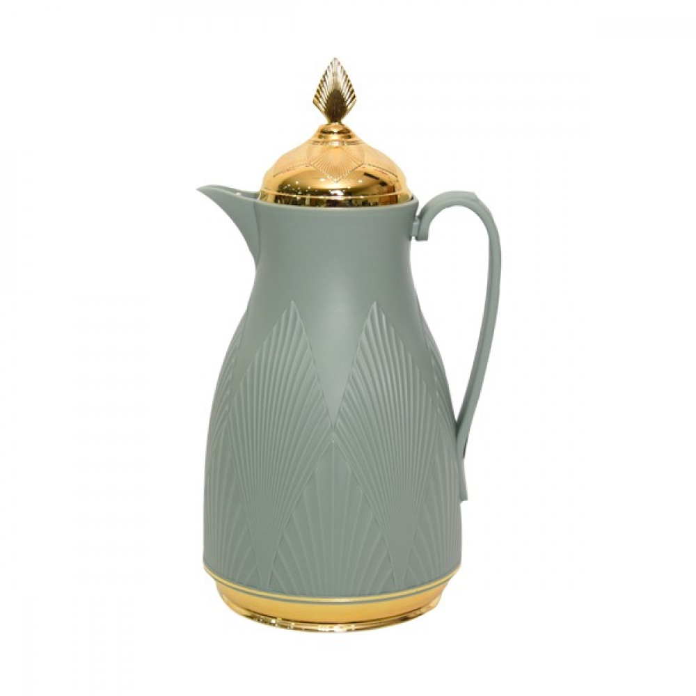 Misa green thermos 1 liter with a golden cover